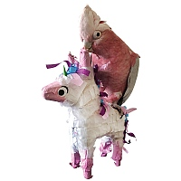 Unicorn Pinata Parrot Toy with Treats