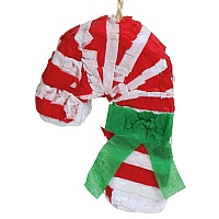 Christmas Candy Cane  Pinata Parrot Toy - Fill Your Own