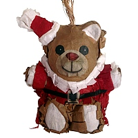Mini Santa Bear Pinata Parrot Toy