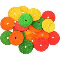 Colourful Wooden Wheels Small - Parrot Toy Parts - 20 Pack