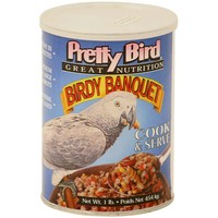 Pretty Bird Birdy Banquet - Quick-to-Cook Meal for Parrots