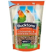 Bucktons Cockatiel & Lovebird Food with Spiralife