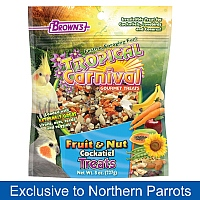 Brown`s Fruit & Nut Carnival Small Parrot Treat Mix - 227g