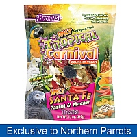 Brown`s Spicy Santa Fe Parrot Treat Mix - 340g
