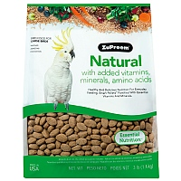 ZuPreem Natural Large - Complete Food for Large Parrots