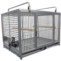 King`s Cages Aluminium Parrot Travel Cage - Large