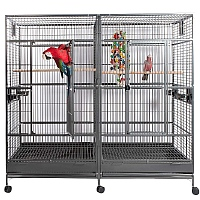 Nova 2 Large Parrot Cage with Divider - 2 Colours