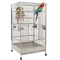 Nova 1 Solid Flat Top Parrot Cage - Stone