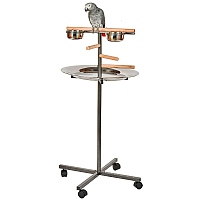 T-Bar Parrot Stand - Black